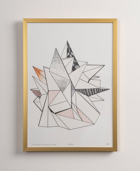 Color Ray Mountain - Print - (incl frame)