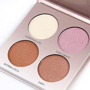 4 Colors Pressed powder Bronzers Highlighters Dry / Shimmer / Combination Concealer Face China Makeup Cosmetic Pearl Paper