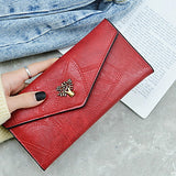 Women's Zipper PU Wallet Solid Color Black / Brown / Blushing Pink