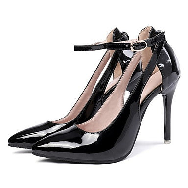 Women's Heels Stiletto Heel Pointed Toe PU Winter Black / White / Yellow