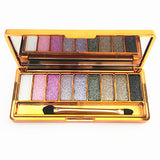 9 Colors Eyeshadow palette diamond bright shining colorful makeup eye shadow flash glitter makeup set