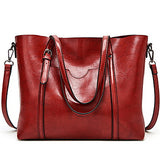 Women's Zipper PU(Polyurethane) / PU Tote Solid Color Black / Brown / Wine