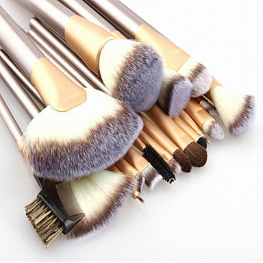Make up Brushes 24pcs Premium Goat Hair Cosmetic Makeup Brush Set for Foundation Blending Blush Concealer Eye Shadow Travel Makeup bag Included