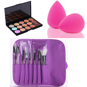 15 Colors Concealer / Contour Makeup Brushes Powder Puff Long Lasting / Concealer / makeup tools Face Makeup Cosmetic