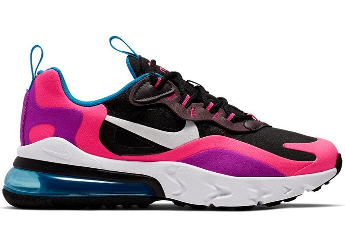 Nike Air Max 270 React Black Hyper Pink Vivid Purple (GS)