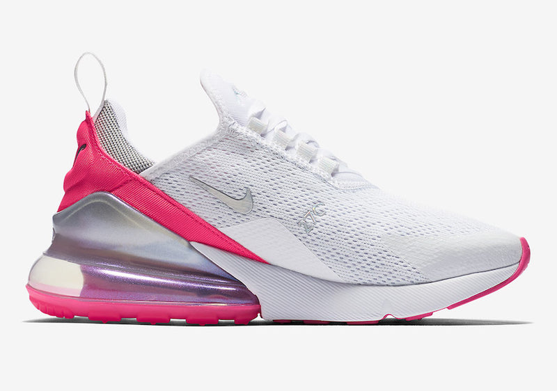 Nike Air Max 270 in White and Pink