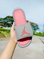 "Jordan Slides ""Gray & Red"" Women's"