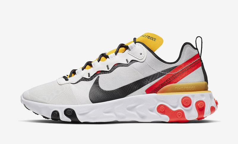 Nike React Element 55 WHITE YELLOW ORANGE WOMEN