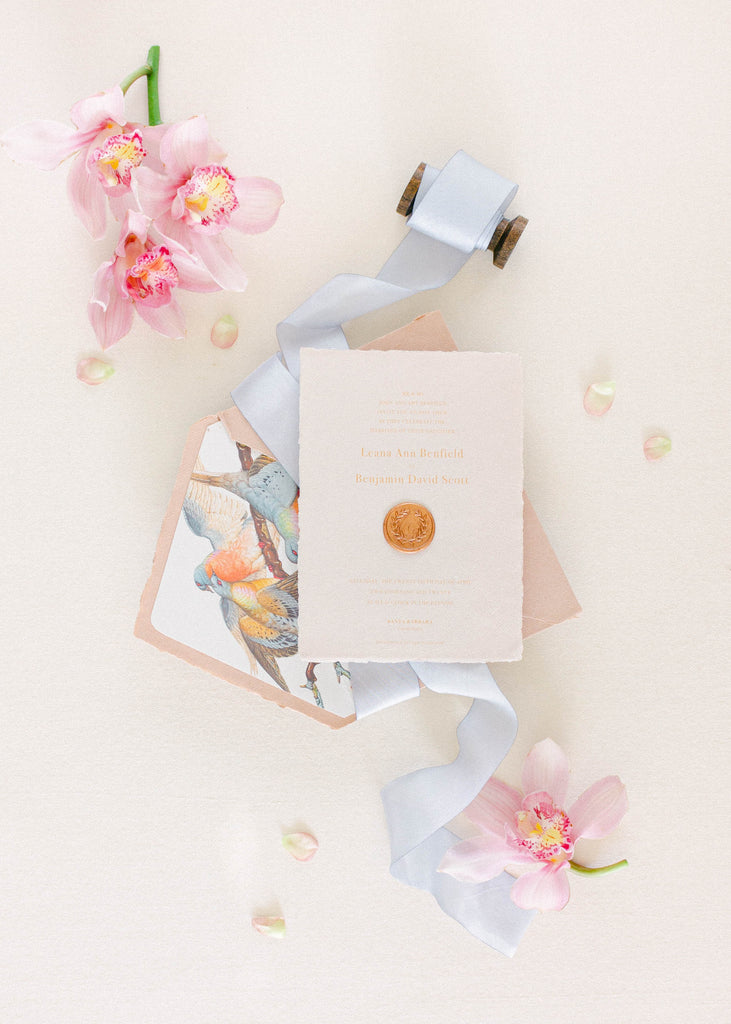 French Blue Ribbon for Invitations