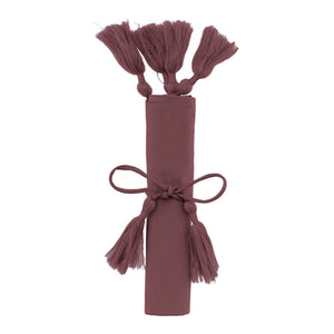 Decorative Cushion cover w/ tassel Grape