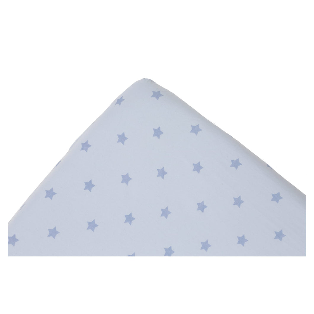 Fitted Sheet Blue Stars 40x95