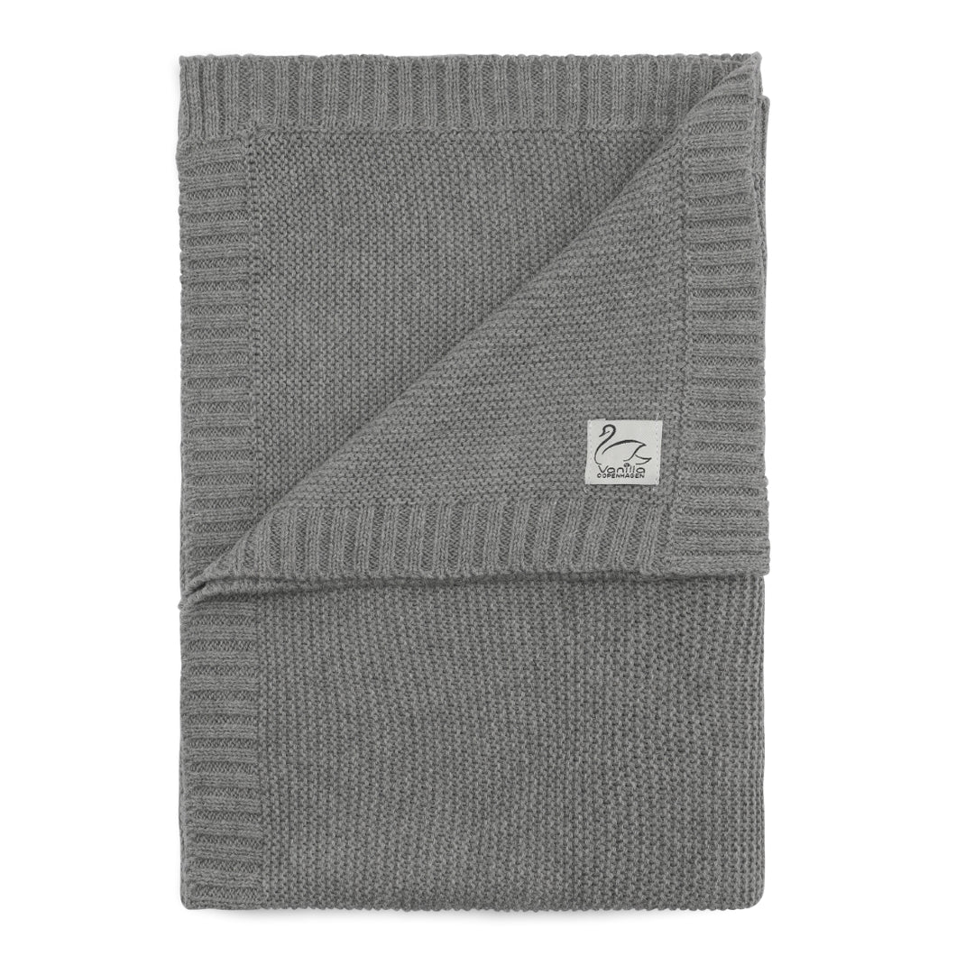 Knitted Blanket Grey
