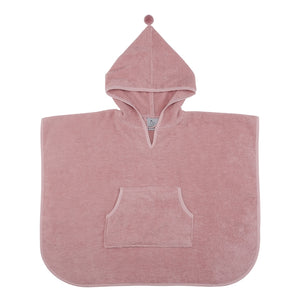 Pom-Pom Poncho Wood Rose GOTS