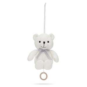 Music Mobile Little Teddy Bear White