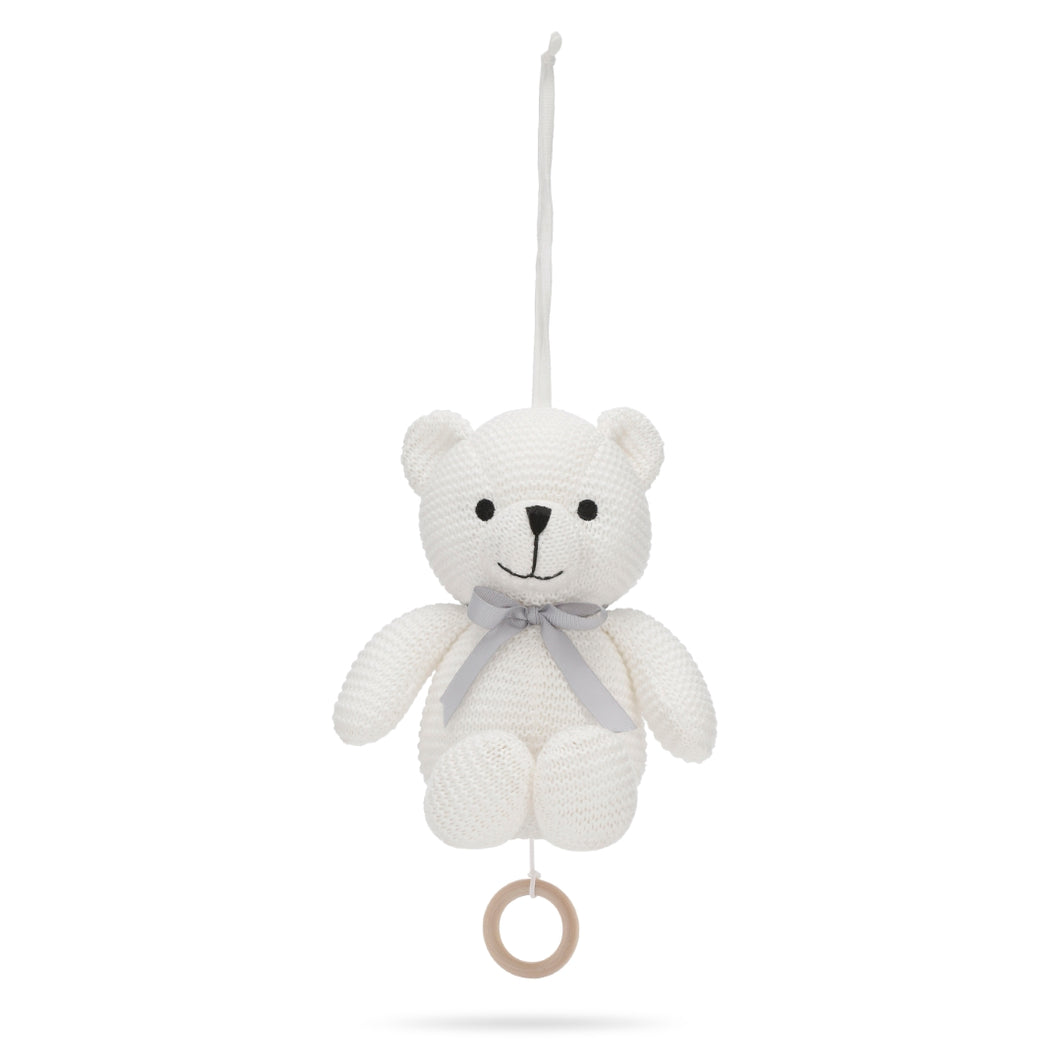 Music Mobile Little Teddy White Organic