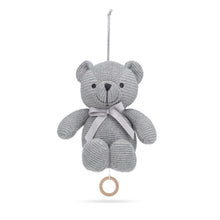 Load image into Gallery viewer, Music Mobile Little Teddy Grey Organic