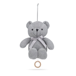 Music Mobile Little Teddy Grey Organic