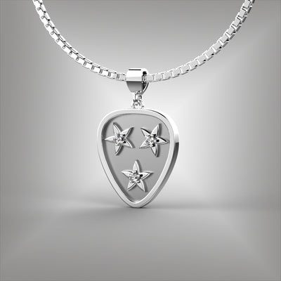 Nashville Tennessee Guitar Pick Diamond Pendant
