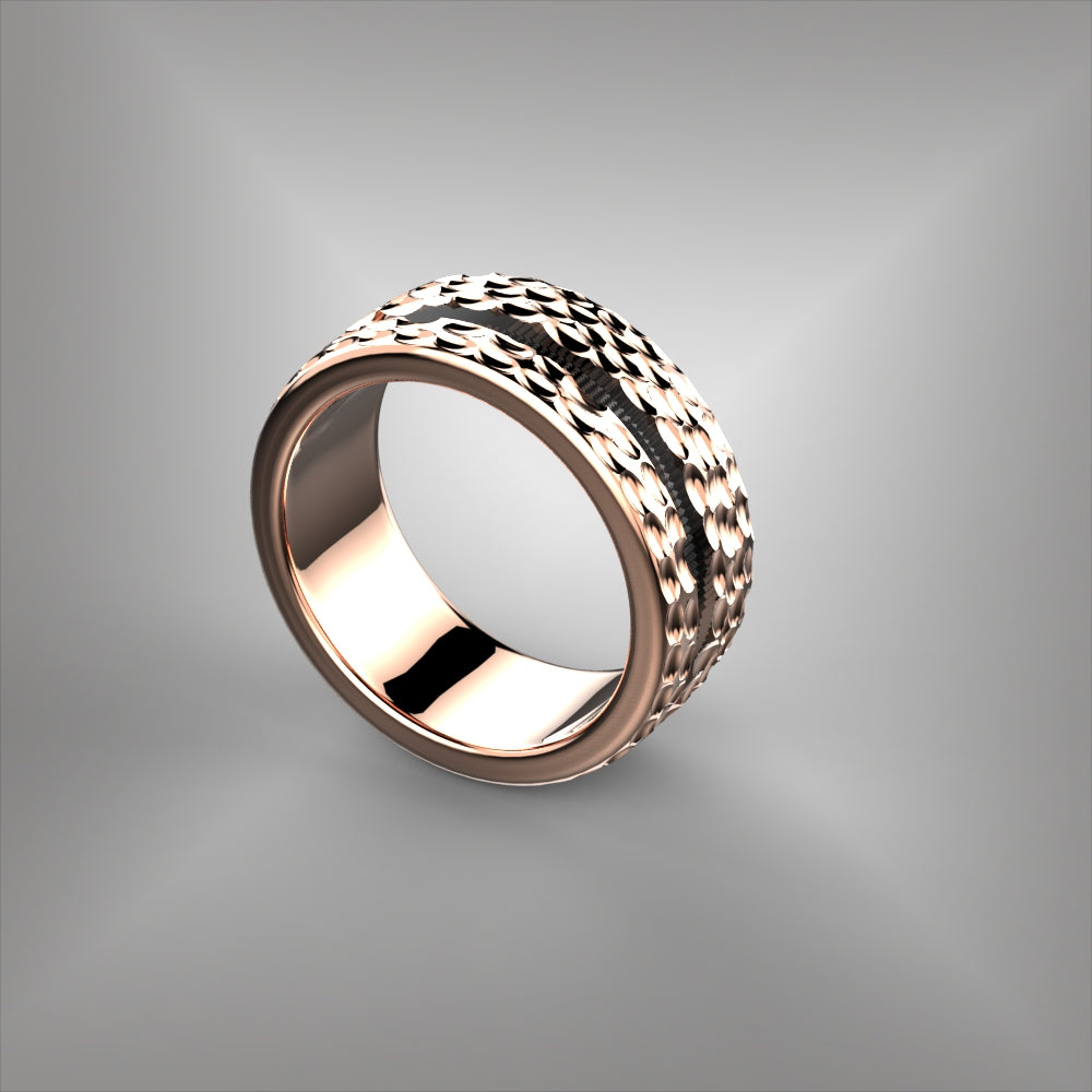 Inlay Wedding Band