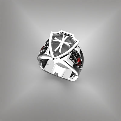 Men's Templar's Cross Ring