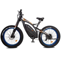 Ecotric big fat tire ebike Bison-Matt Black