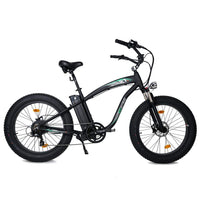 Ecotric Hammer Electric Fat Tire Beach Snow Bike-Matt Black
