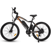 Ecotric Leopard Electric Mountain Bike - Matt Black