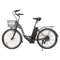 Ecotric Peacedove black electric city bike
