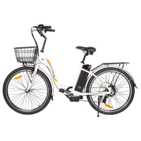 Ecotric Peacedove white electric city bike