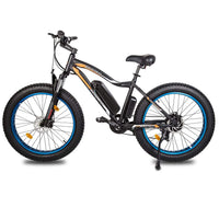 Ecotric Rocket Fat Tire Beach Snow Electric Bike - Blue