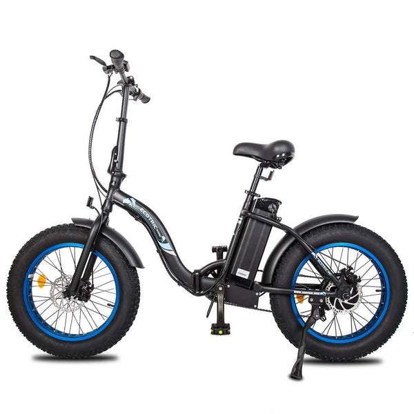 Ecotric black Portable and folding fat bike model Dolphin