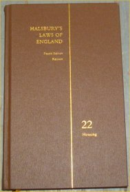 Halsbury's Laws of England 4th Edition Volume 22 Reissue