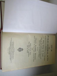 The Public General Acts of 1937 - 38, Church Assembly Measures