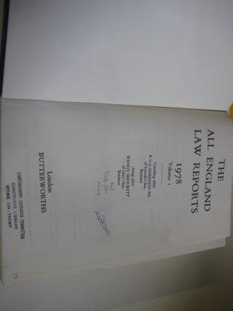 The All England Law Reports 1978 Vol 1