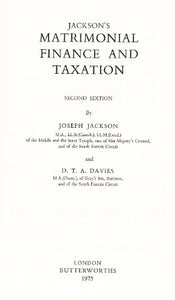 Jackson's matrimonial finance and taxation