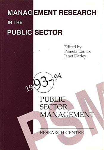 Management Research in the Public Sector