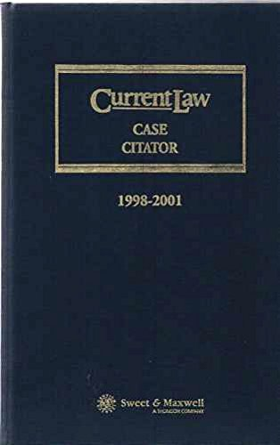 Current Law Case Citator 1998-2001