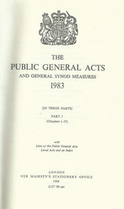 The Public General Acts and General Synod Measures 1983: With Lists of the Public General Acts, Local Acts and an Index