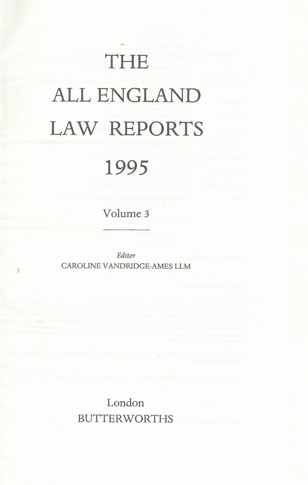 All England Law Reports 1995: Vol 3