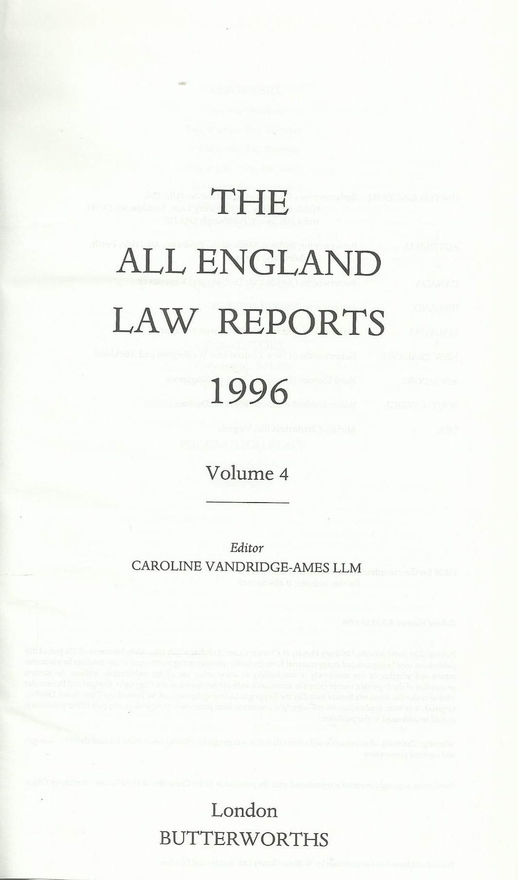 All England Law Reports 1996: Vol 4