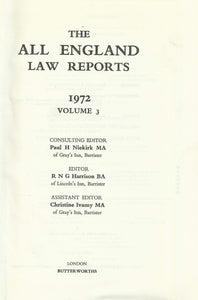 THE ALL ENGLAND LAW REPORTS 1972 VOLUME 3