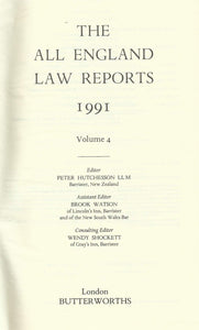 The All England Law Reports 1991: Volume 4