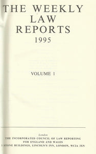 The Weekly Law Reports 1995, Volume I