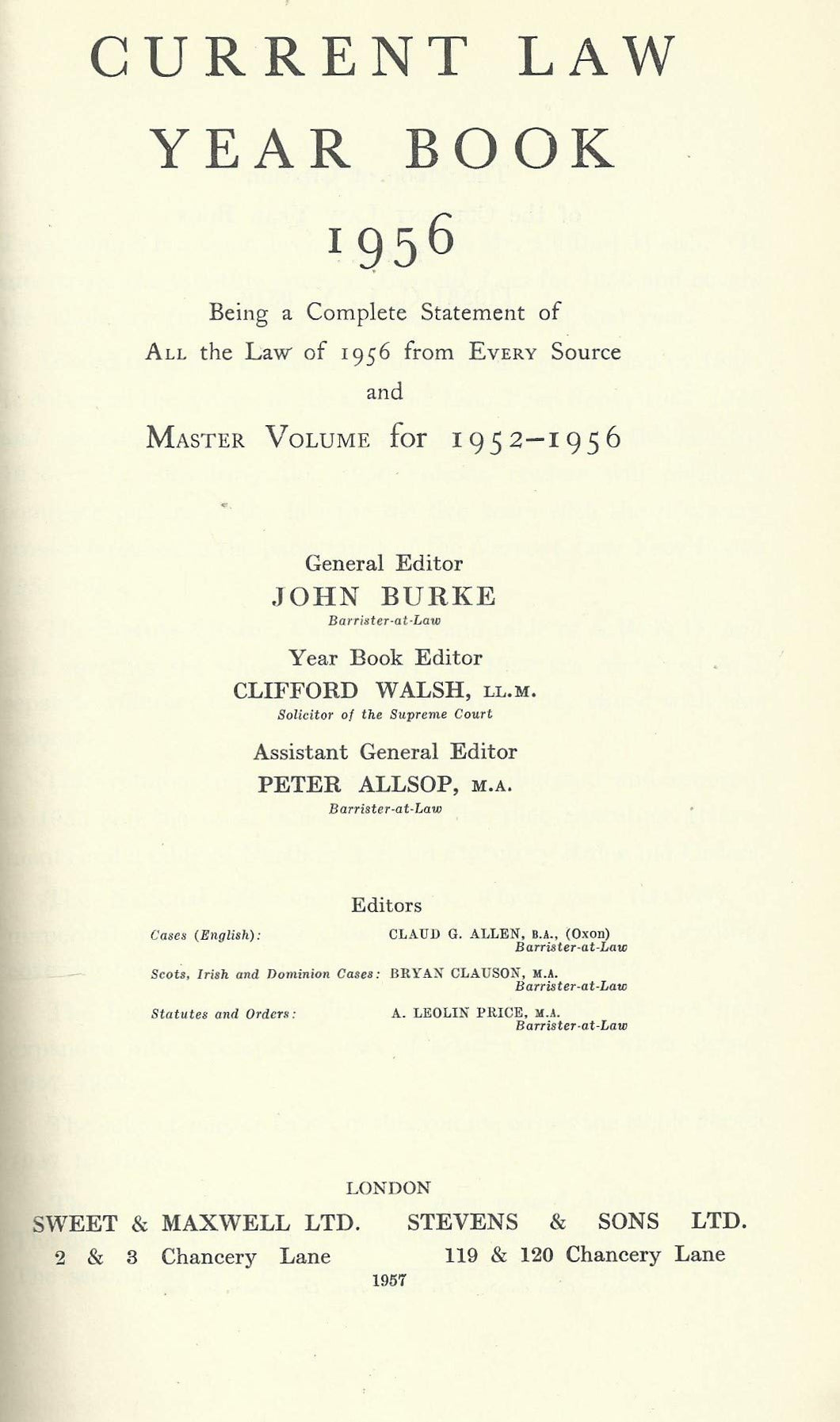 Current Law Year Book 1956