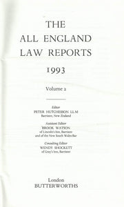 THE ALL ENGLAND LAW REPORTS: 1993 Volume 2