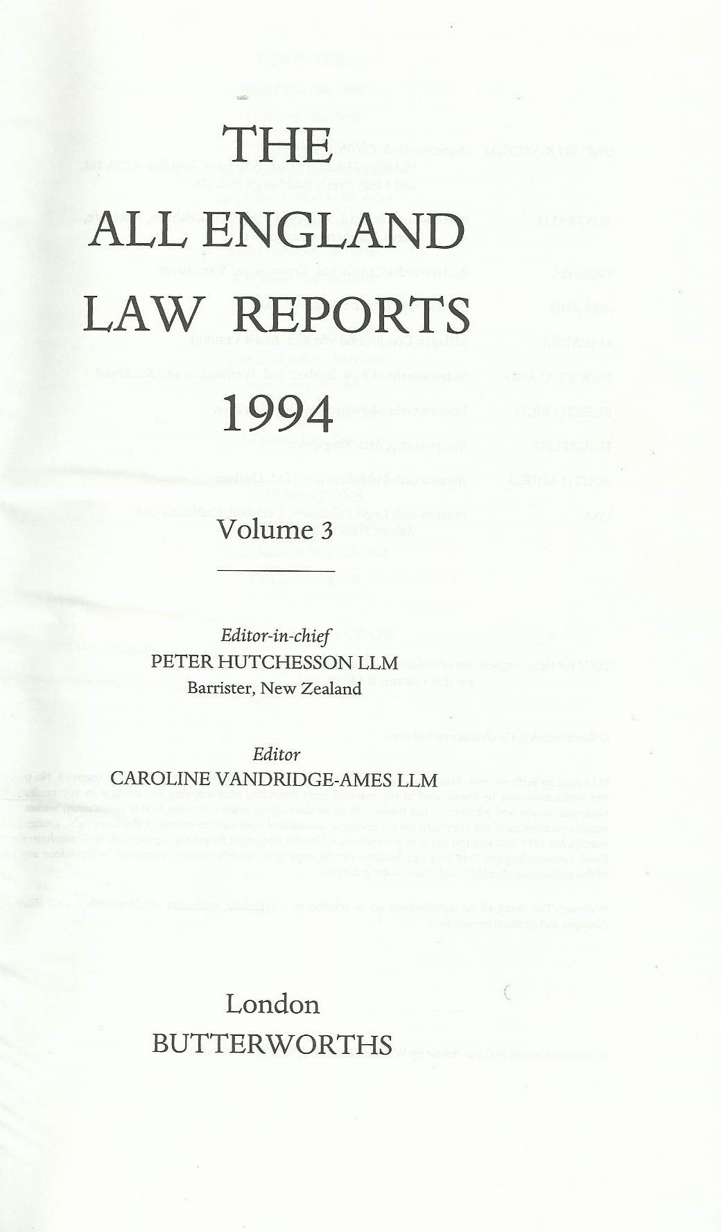 The All England Law Reports 1994, Volume 3