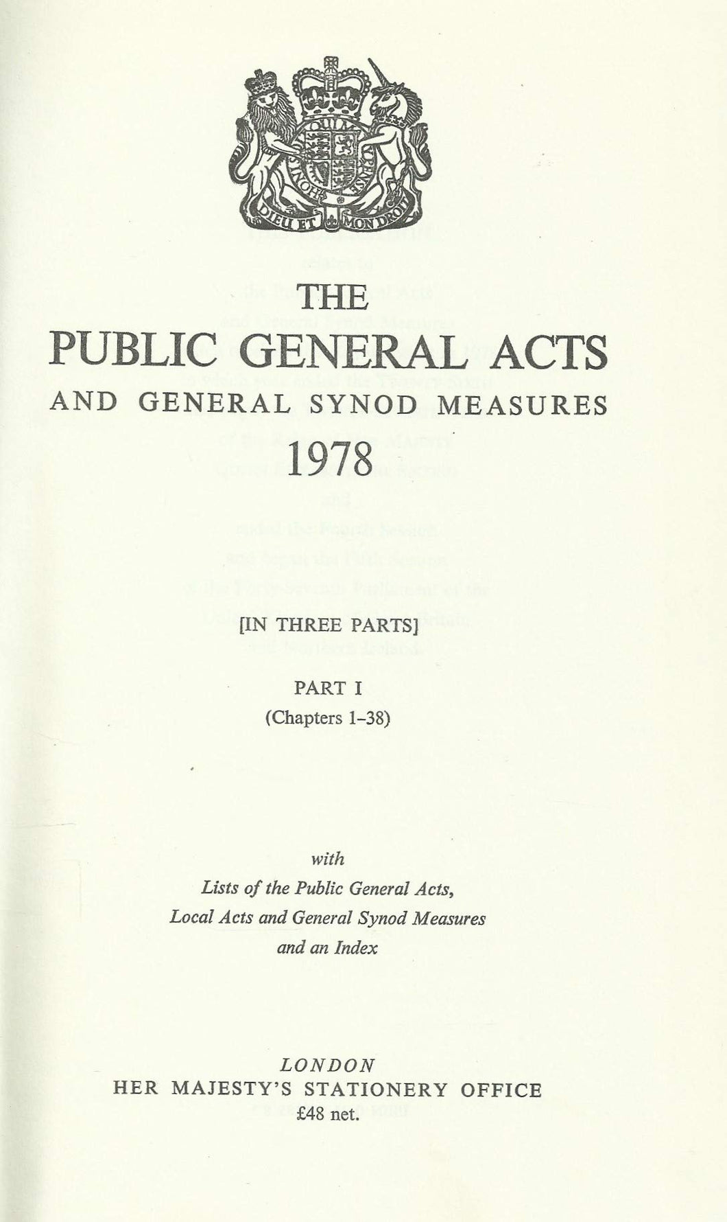The public general acts and General Synod measures