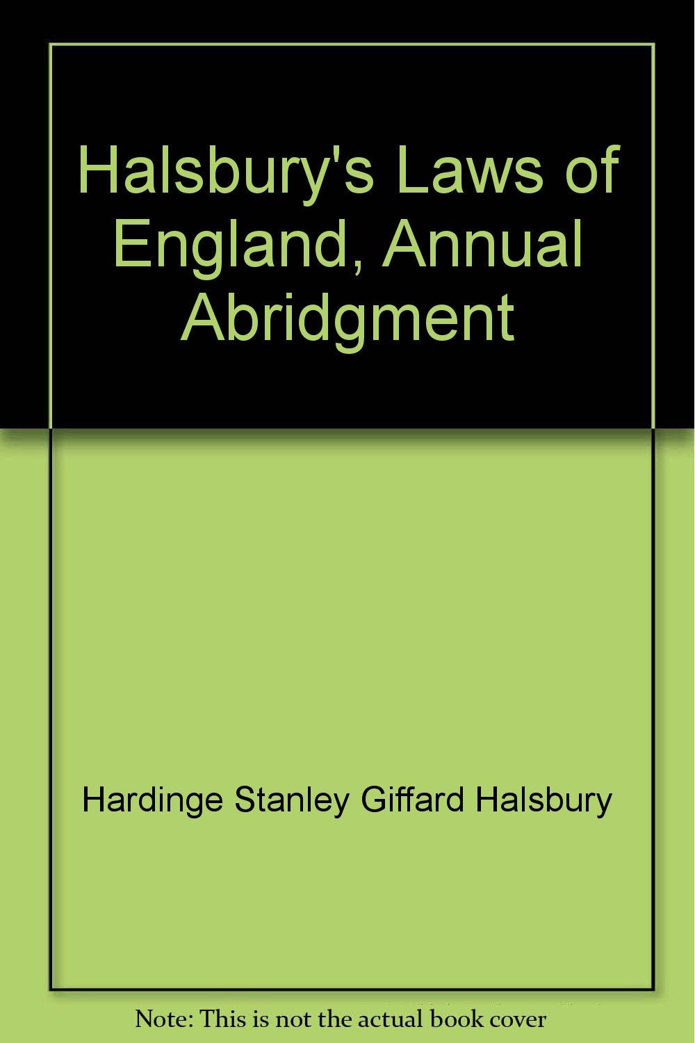 Halsbury's Laws of England, Annual Abridgment