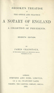 Brooke's Notary - Brooke's Treatise on the Office and Practice of A Notary of England with a Collection of Precedents