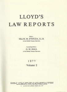 Lloyd's Law Reports - 1977, Volume 2